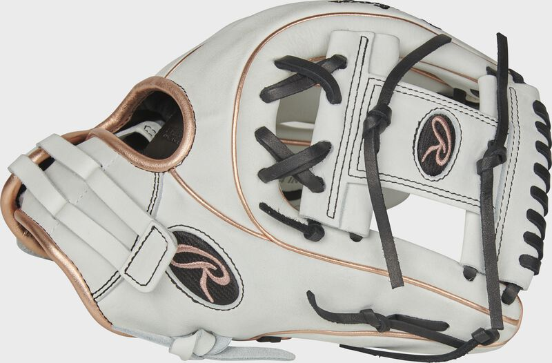 Thumb of a white RLA715SB-2RG Liberty Advanced Color Series 11.75-inch infield glove with a white I-web