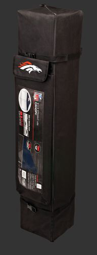 Black carry case of a 9x9 Denver Broncos canopy with a team logo on the side compartment - SKU: 03231066112