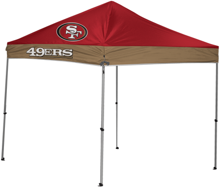 NFL San Francisco 49ers 9x9 shelter with 4 team logos