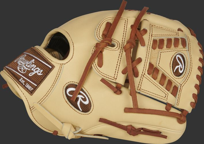 Thumb of a camel 2021 11.75-Inch Pro Preferred infield/pitcher's glove with a Laced 2-Piece Solid web - SKU: PROS205-30C