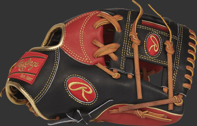 Thumb view of a PRONP4-2SBG Heart of the Hide 11.5-inch infield glove with a black I web