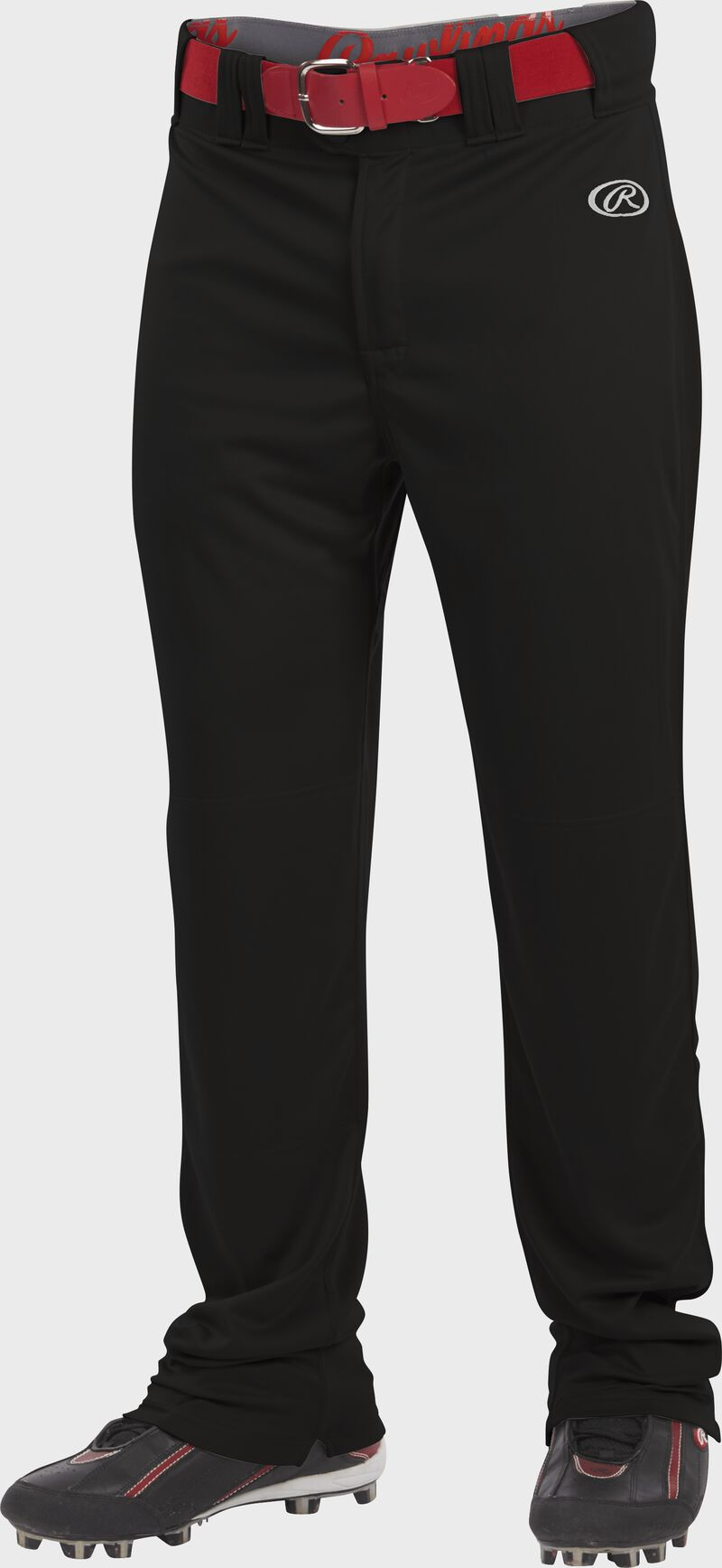 Front of Rawlings Black Adult Launch Semi-Relaxed Pant - SKU #LNCHSR