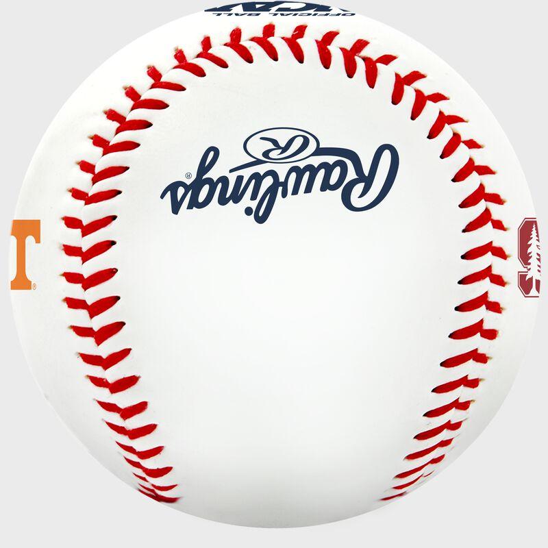 Rawlings logo on a College World Series contenders baseball - SKU: 35393012531