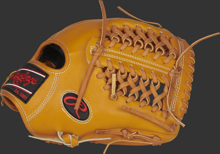 Thumb of a tan 2021 Heart of the Hide R2G 11.75-Inch infield/pitcher's glove with a Modified Trap-Eze web - SKU: PROR205-4T
