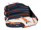 Back of a navy/white/orange Detroit Tigers 10-inch youth glove with the MLB logo on the pinky - SKU: 22000027111 image number null
