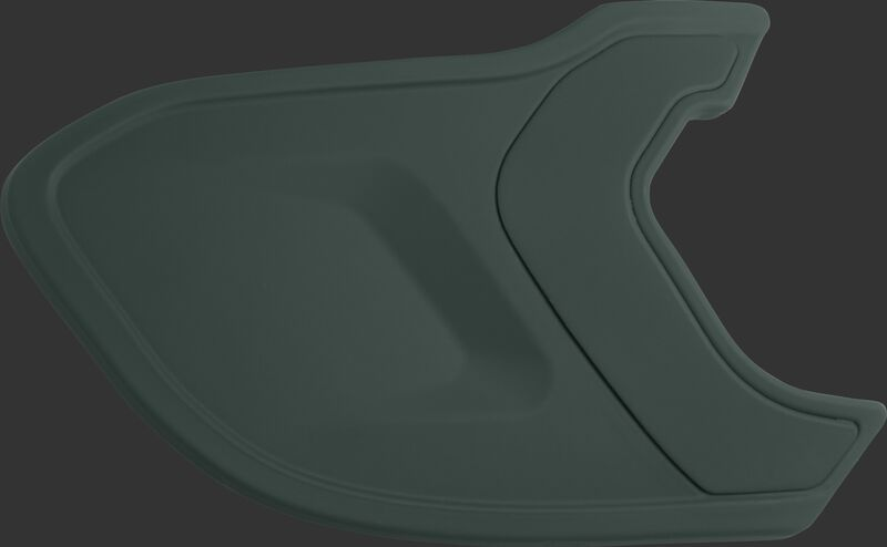 A matte dark green MEXTR Mach EXT batting helmet extension for right-handed batters