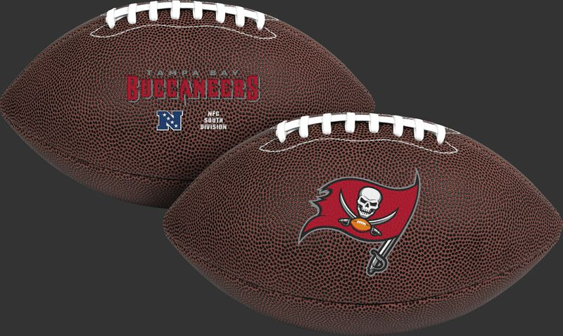 NFL Tampa Bay Buccaneers Air-It-Out youth football with team name and logo SKU #08041086121