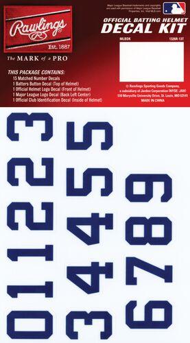 Rawlings MLB New York Yankees Decal Kit With Blue Numbers SKU #MLBDC-NYY