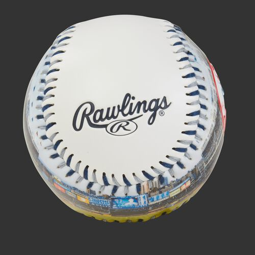 Rawlings logo on a New York Yankees team stadium ball