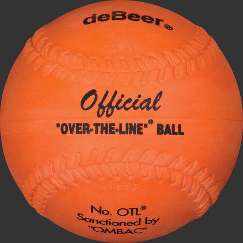 An orange W20222 deBEER 12-inch Clincher softball