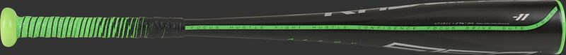 A black Rawlings 2021 5150 USSSA coach pitch bat with green accents - SKU: UT1511