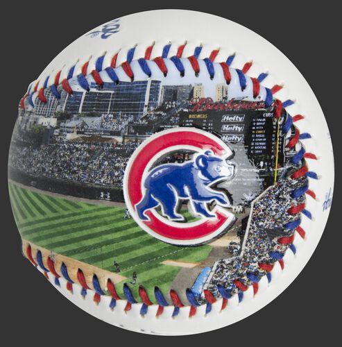 Stadium picture of a Chicago Cubs stadium baseball