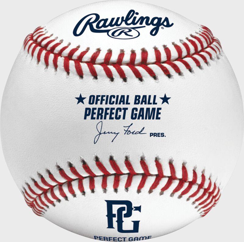 PGUB Perfect Game baseball with the PG logo