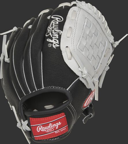 SC950BGB 9.5-inch Sure Catch youth Basket web glove with a black back