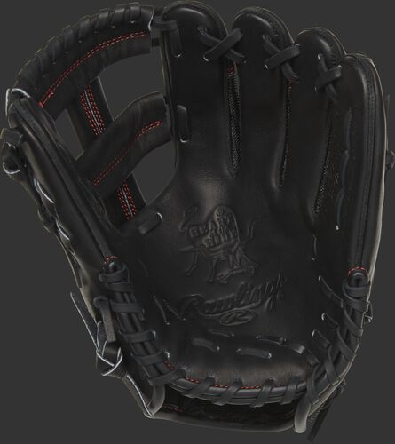 PROAK2MBP Rawlings Heart of the Hide glove with a black palm and black laces