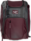 Front of a maroon Franchise baseball backpack with gray accents and a maroon Rawlings patch - SKU: FRANBP-MA image number null