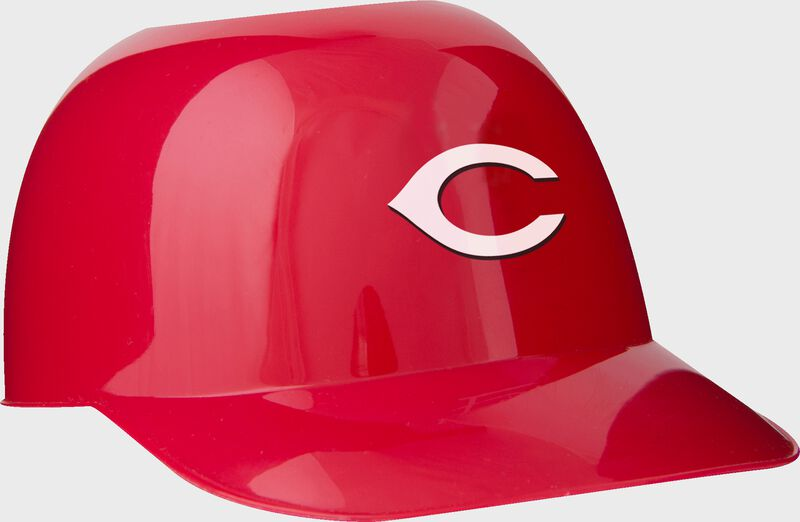 Front of Rawlings Red MLB Cincinnati Reds Snack Size Helmets With Team Logo SKU #01950023122