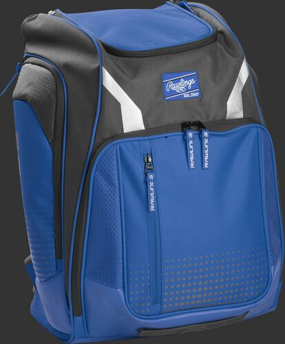 Right angle view of a royal Rawlings Legion backpack - SKU: LEGION-R