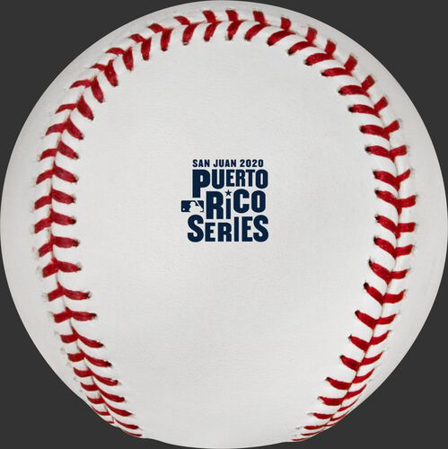 The 2020 Puerto Rico Series logo stamped on a MLB baseball - SKU: ROMLBPRS20