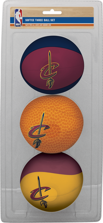 NBA Cleveland Cavaliers Three-Point Softee Basketball Set
