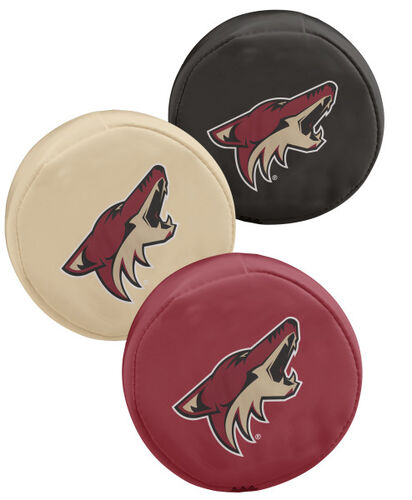 Rawlings NHL Arizona Coyotes Three Puck Softee Set With Black, Cream, and Red Pucks With Team Logo SKU #00614127111