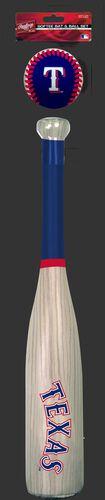 MLB Texas Rangers Bat and Ball Set