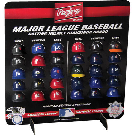 MLB Mini Helmet Standings Board