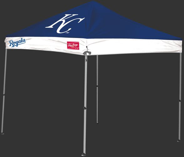 Rawlings Blue and White MLB Kansas City Royals 9x9 Canopy Shelter With Team Logo and Name SKU #06250026111