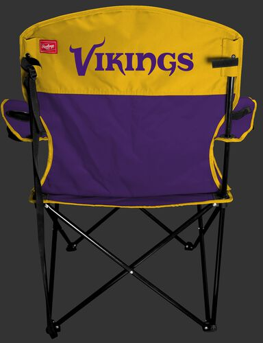 Back of Rawlings Purple and Yellow NFL Minnesota Vikings Lineman Chair With Team Name SKU #31021075111