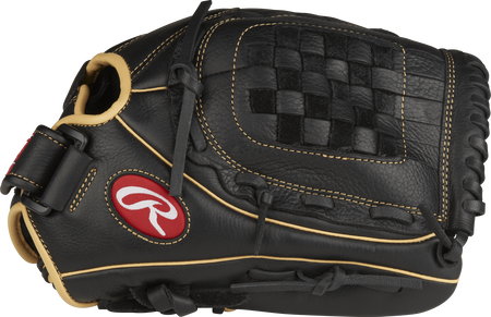 RSO120BCC Shut Out 12-inch outfield glove with a black thumb and black Basket web