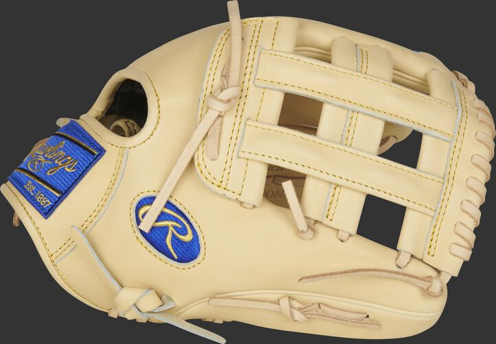 Thumb of a camel 2021 Heart of the Hide R2G 12.25-Inch glove with a camel H-web - SKU: PRORKB17