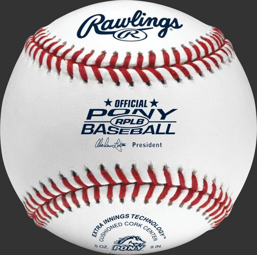 RPLB Pony League tournament grade baseball with raised seams