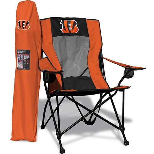 Front of Rawlings Orange and Black NFL Cincinnati Bengals High Back Chair With Team Logo SKU #09211063518