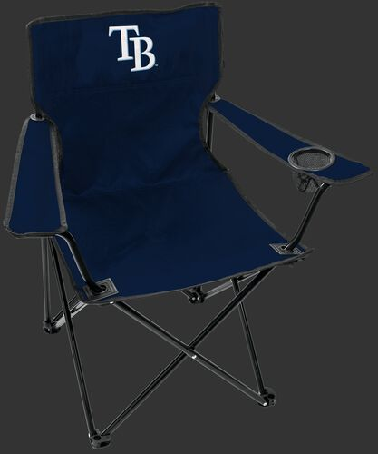 Front of Rawlings Navy Blue MLB Tampa Bay Rays Gameday Elite Chair With Team Logo SKU #06110009111