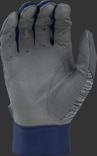 Grey palm of a 5150GBG-N Rawlings 5150 batting glove