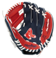 A navy/red Rawlings Boston Red Sox youth glove with the Red Sox logo stamped in the palm - SKU: 22000024111 image number null