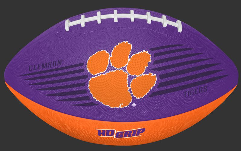 Purple and Orange NCAA Clemson Tigers Downfield Youth Football With Team Logo SKU #07903010121