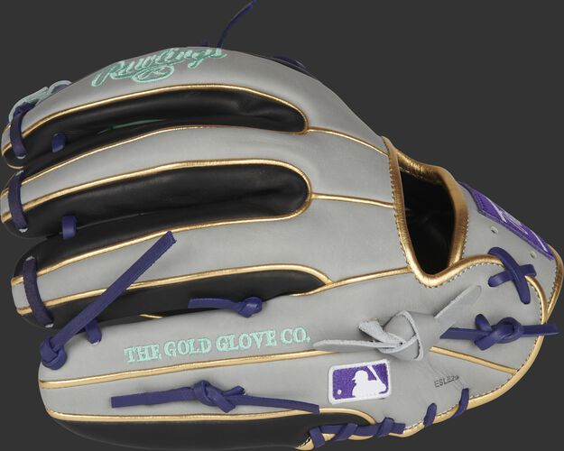 Black/gray back of a 31 pattern HOH ColorSync 5.0 11.75-Inch infield glove with the MLB logo on the pinky - SKU: PRO315-2BP