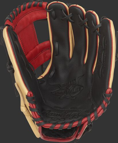 SPL112AR Rawlings Addison Russell youth baseball glove with a black palm and black laces