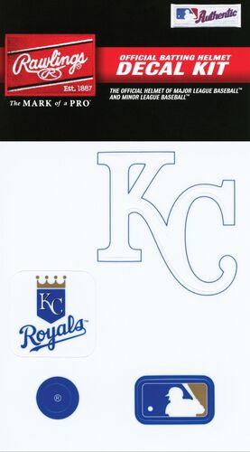 Rawlings MLB Kansas City Royals Decal Kit With Team Logos and MLB Logo SKU #MLBDC-KC