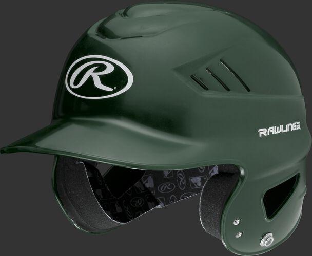 Coolflo High School/College Batting Helmet Dark Green