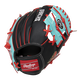 Back of a black/teal Arizona Diamondbacks 10-inch I-web glove with a red Rawlings patch - SKU: 22000010111 image number null