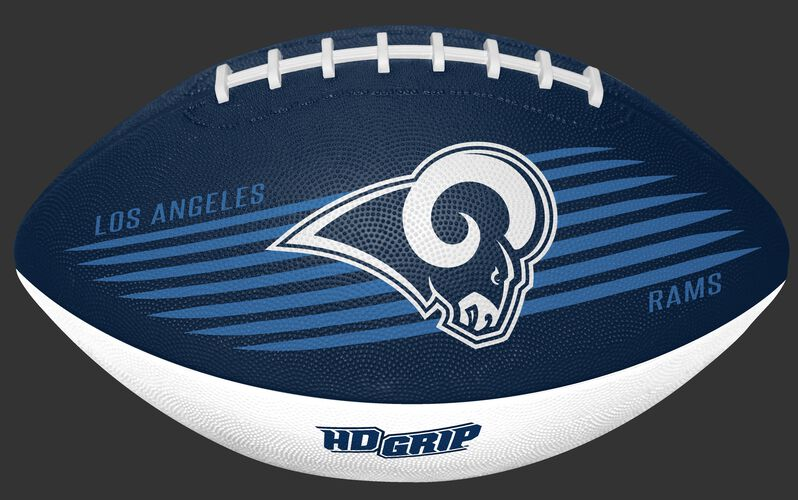 Navy and White NFL Los Angeles Rams Downfield Youth Football With Team Logo SKU #07731073121