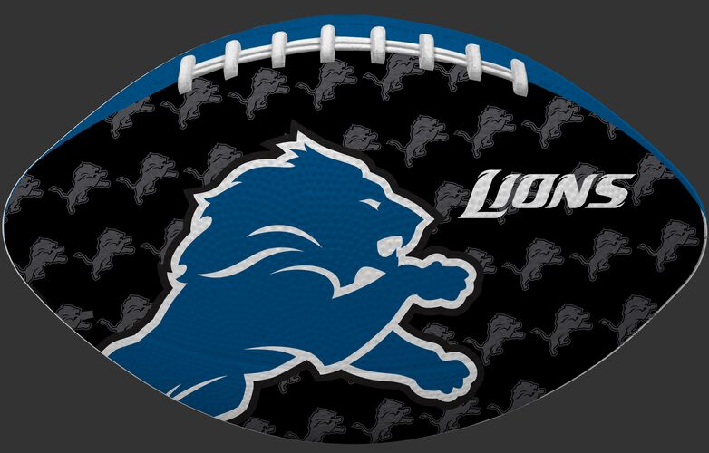 Black side of a NFL Detroit Lions Gridiron football with the team logo SKU #09501067121
