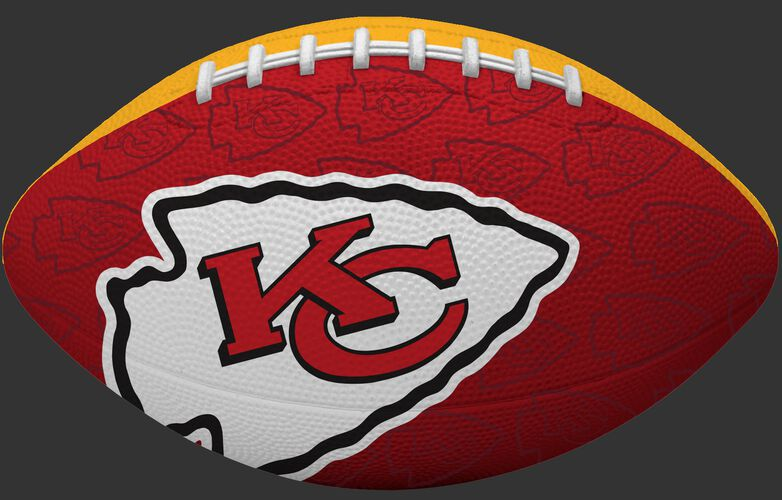 Red side of a NFL Kansas City Chiefs Gridiron football with the team logo SKU #09501071122