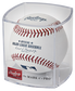 A ROMLB Official MLB baseball in a clear display cube image number null
