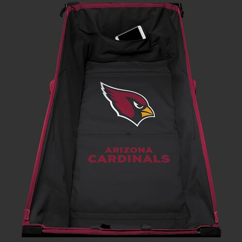 Inside of an Arizona Cardinals tailgate wagon with team logo printed in the middle SKU #00931081519