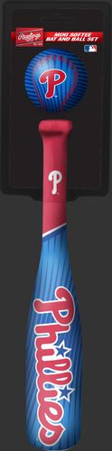 Rawlings Philadelphia Phillies Softee Mini Bat and Ball Set in Team Colors With Team Name and Logo On Front SKU #01160020114