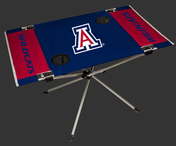NCAA Arizona Wildcats Endzone table with team colors, logos and two cup holders SKU #04053068111