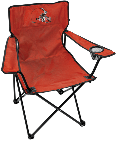 NFL Cleveland Browns Gameday Elite Chair with team colors and logo on the back